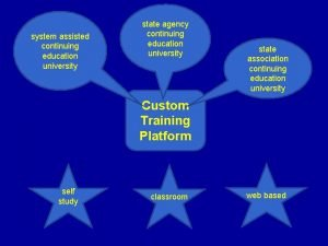 system assisted continuing education university state agency continuing
