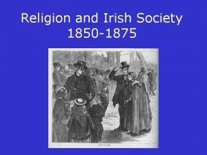 Religion and Irish Society 1850 1875 Religious affiliation