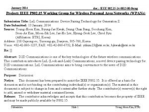 January 2014 doc IEEE 802 15 14 0013