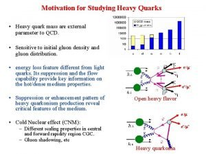Motivation for Studying Heavy Quarks Heavy quark mass