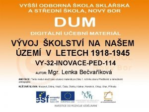 VVOJ KOLSTV NA NAEM ZEM V LETECH 1918