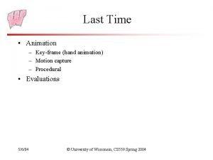 Last Time Animation Keyframe hand animation Motion capture