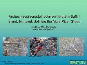 Archean supracrustal rocks on northern Baffin Island Nunavut