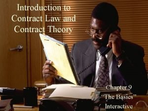 Introduction to Contract Law and Contract Theory Chapter