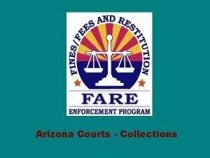 Arizona Courts Collections ARIZONA FARE FARE is a