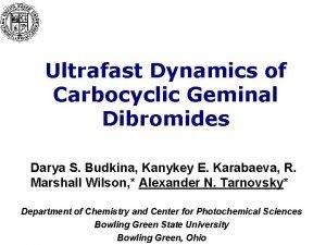 Ultrafast Dynamics of Carbocyclic Geminal Dibromides Darya S