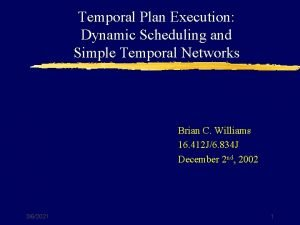 Temporal Plan Execution Dynamic Scheduling and Simple Temporal