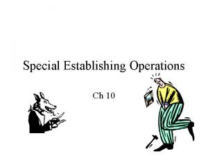 Special Establishing Operations Ch 10 AGGRESSION Painestablished aggression