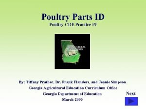 Poultry Parts ID Poultry CDE Practice 9 By
