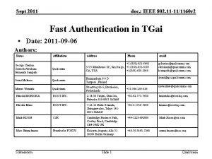 Sept 2011 doc IEEE 802 11 111160 r