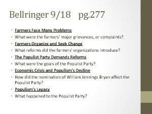 Bellringer 918 pg 277 Farmers Face Many Problems