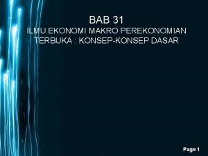 BAB 31 ILMU EKONOMI MAKRO PEREKONOMIAN TERBUKA KONSEPKONSEP