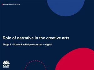 NSW Department of Education Role of narrative in
