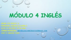 MDULO 4 INGLS GRADE 6 TO BSICO A