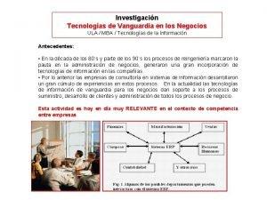 Investigacin Tecnologas de Vanguardia en los Negocios ULA