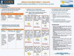 HOSPI MDULO DE MONITOREO Y ANLISIS Distribucin Casa