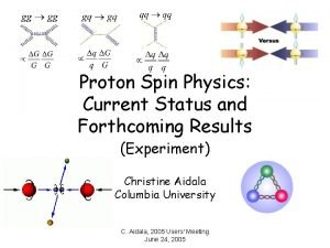 Proton Spin Physics Current Status and Forthcoming Results