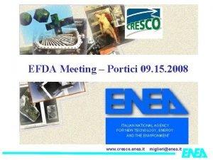 EFDA Meeting Portici 09 15 2008 ITALIAN NATIONAL