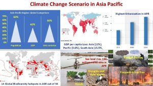 Climate Change Scenario in Asia Pacific AsiaPacific Region