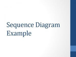 Sequence Diagram Example Each waiter is assigned a
