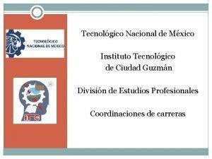 Tecnolgico Nacional de Mxico Instituto Tecnolgico de Ciudad