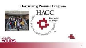 Harrisburg Promise Program 1 Harrisburg Promise Background Program