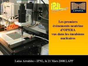 Les premiers vnements neutrino dOPERA vus dans les