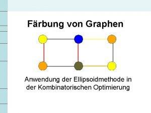 Frbung von Graphen Anwendung der Ellipsoidmethode in der