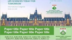 Paper title Paper title Author A A Author
