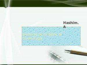 Hashim A General principles of toxicology u Toxicology
