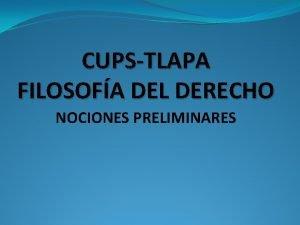 CUPSTLAPA FILOSOFA DEL DERECHO NOCIONES PRELIMINARES Estatuas de