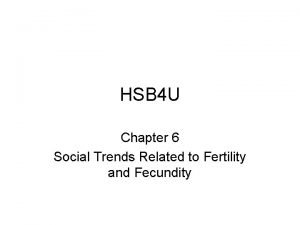 HSB 4 U Chapter 6 Social Trends Related