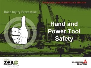 Hand Power Tool Safety Regulations Covering Hand Power