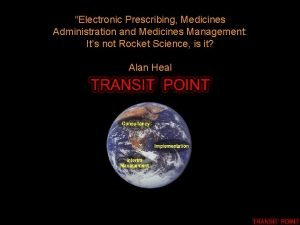 Electronic Prescribing Medicines Administration and Medicines Management Its