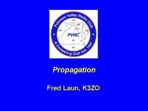 Propagation Fred Laun K 3 ZO Propagation for