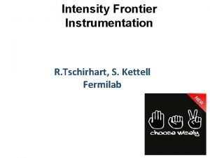 Intensity Frontier Instrumentation R Tschirhart S Kettell Fermilab