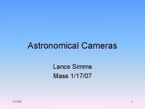 Astronomical Cameras Lance Simms Mass 11707 1 The