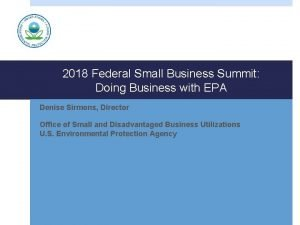 2018 Federal Small Business Summit Doing Business with