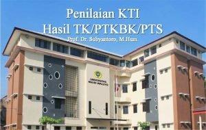 Penilaian KTI Hasil TKPTKBKPTS Prof Dr Subyantoro M