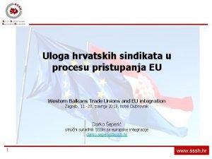 Uloga hrvatskih sindikata u procesu pristupanja EU Western