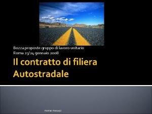 Bozza proposte gruppo di lavoro unitario Roma 2324