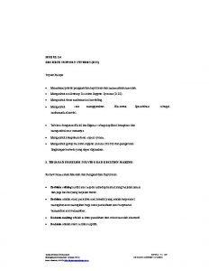 MODUL 14 DECISION SUPPORT SYSTEMS DSS Tujuan Belajar