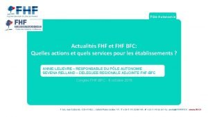 Ple Autonomie Actualits FHF et FHF BFC Quelles