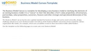 Business Model Canvas Template The Business Model Canvas