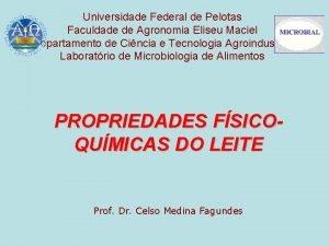 Universidade Federal de Pelotas Faculdade de Agronomia Eliseu