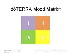 dTERRA Mood Matrix 2009 dTERRA International Inc prohibited