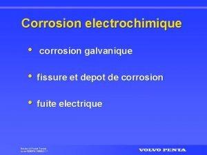 Corrosion electrochimique corrosion galvanique fissure et depot de