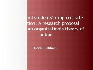 High school students dropout rate prevention A research