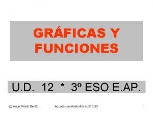 GRFICAS Y FUNCIONES U D 12 3 ESO