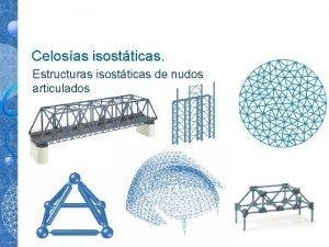 Celosas isostticas Estructuras isostticas de nudos articulados Estructuras